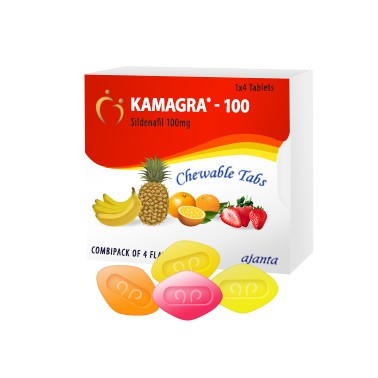 Buy Kamagra Chewable Tablets 100mg Sildenafil Online USA for Erectile Dysfunction