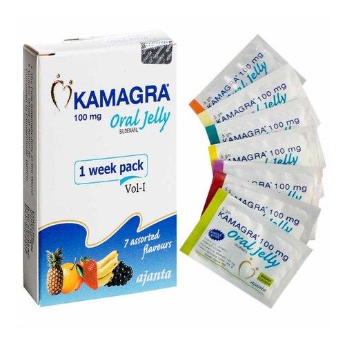 Buy Ajanta Kamagra Oral Jelly Sildenafil 100mg Online for Erectile Dysfunction