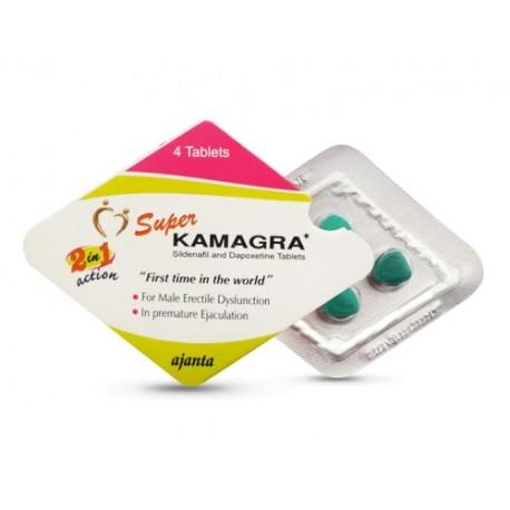 Buy Ajanta Pharma Super Kamgra 160mg 2 in 1 Pills Sildenafil Dapoxetine Online USA for Erectile Dysfunction
